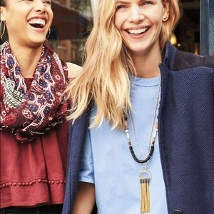 NWT Stella & Dot Genevieve Tassel Necklace